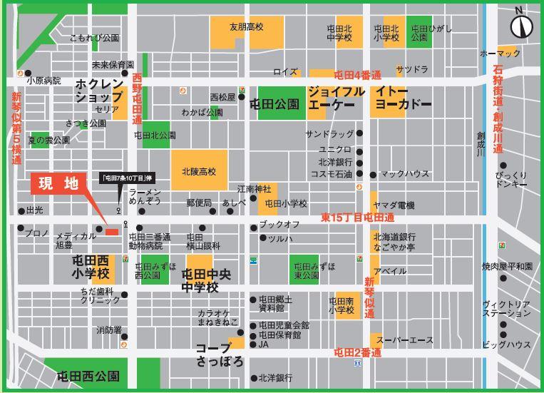 PT屯田6条マップ