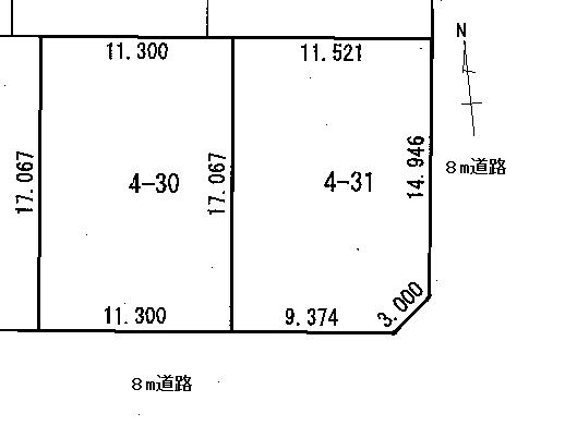 屯田6条4街区 土地図面